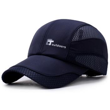 GLOO-STORY野球帽夏季男女同タイプ速乾帽遮光通気メッシュハッチMMZ 824259ネイビー
