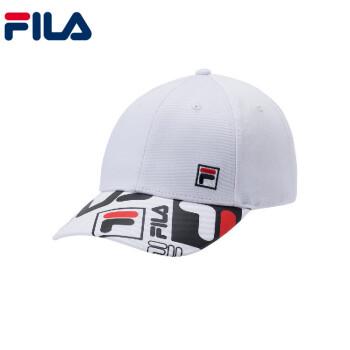 フィレFILA White Lineシリーズストリートファッション復古日焼け止め男子野球帽標準白XS