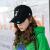 ColorChos経典logo flam goわらないファン風刺繡野球帽恋人と女性のつば帽子旅行には遮光ハング帽が必要です。