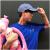 帽子男韓国版野球帽夏カジュアルアルファベットハング帽黒学生遮光パーカー黒