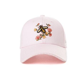 シggi SI99364帽子女性春夏天韓国版カジュアル刺繍小蜜蜂民族風ハング帽学生帽ピンク57-59 CM