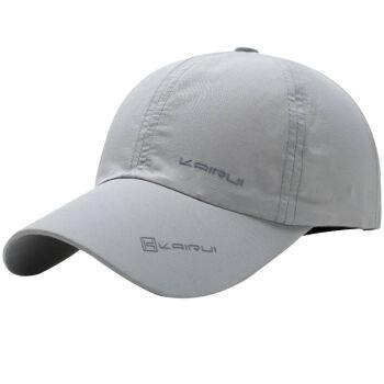 GLOO-STORY野球帽メンズ屋外旅行遮光帽カジュアルベースボール帽MMZ 814104ライトグレー