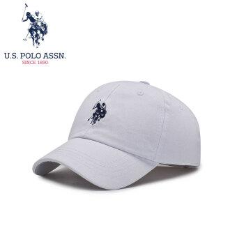 U.S.POLO帽子男女子供野球帽基本モデル4-10歳子供遮光ハング帽SMZ OO-6006白