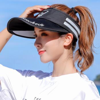 魅力的な微笑の野球帽女史春夏の戸外の空頂ハング日焼け止め帽子運動レジャー帽子男学生遮光帽女の純粋な黒い軒先