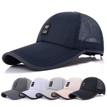 バロン遮光帽男夏季屋外日焼け止め野球帽子通気ネル男女兼用钓りゴフ速乾ハングM 112浓绀调节でございます。
