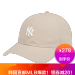 MLB韓国規格品NYEヤンキースの定番白は男女の恋人のソフトトップ野球帽韓国版のトレンドソフトトップハング帽の太陽帽カーキ色NY白の標的です。