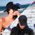 帽子の女性韓国版のファッションマンハンチン帽の男性は夏の日焼け止め太陽帽子の黒い色に沿うと黒の基準が調節できます。【男女兼用】