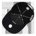 MLB韓国規格品NYEヤンキース男女NYクラシック恋人野球帽太陽帽は黒の白標Nyを調節できます。