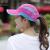 黛莎夏帽子女性韓国版レジャー学生ハング帽恋人屋外ランニングスポーツキャップ太陽帽子日焼け止め帽子玫赤色