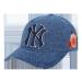 MLB韓国規格品NYEヤンキース男女恋人刺繍花大標野球帽韓国版トレンド太陽帽子ハングクブルーNY花刺繍