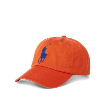 Ralph Lauren拉夫倫男款野球帽遮光カジュアルコットンのロゴ454563 College Orange One Size