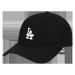MLB韩国正品クラシック刺繍小标男女恋人ソフトトップ野球帽LA韩国版潮流ソフトトップハング帽黒LA白标