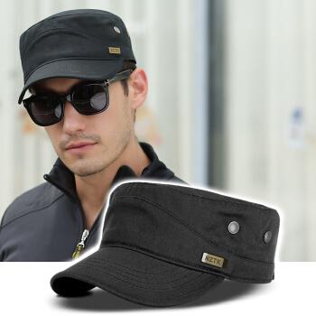 NZTK帽子男性軍帽純綿野球帽男性大サイズワクキャップビッグサイズ純色帽子男性夏ハッチ帽MY 081黒55-60 CMで調節できます。