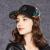 卡蒙(kenmont)ファッション韓国版キャラクターショーの模様ヒップホップ帽女史秋冬防寒保温毛ですね。野球帽子ハンティング帽2514黒で57 cm調節できます。