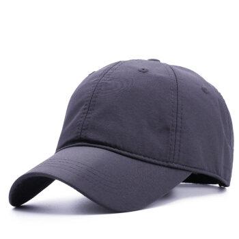 SOMUBAY韓国版新商品水洗綿野球帽男性ビッグサイズ帽子韓国版潮春夏遮光帽子登山日よけ帽子ビッグサイズハング帽BQM-605薄型速乾灰XLヘッドコード(59-65 cm)超ビッグサイズ