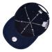 【韓国ダイレメット】MLB野球帽男女カプの小文字ニー帽子韓国版ファッションローダーハング帽紺色F/フリーサーズ