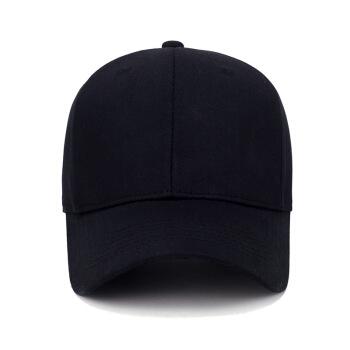 サン・スイ帽子男女夏の秋の纯绵ボンド韩国版纯色野球帽男子士ハリン帽屋外遮光帽黒が调整できます。