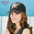 カーメン(Kenmont)春夏のつば刺繍野球ハンティングハッチ帽女性のカジュアルな帽子のつばの遮光帽km-620黒が調節できます(57 cm)