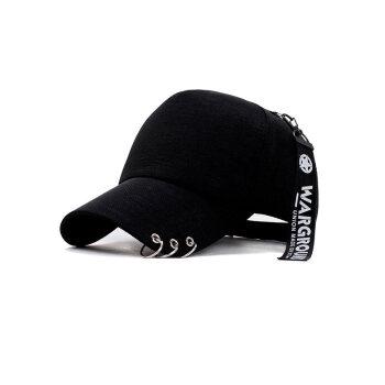 子瞻帽子女夏ハンティング帽韓国版百合野球帽ファッション学生街フュージョンカジュアル帽子男黒調節できます。