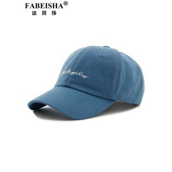FABEISHAブランドの野球帽男女新型韓国版の刺繍アウトドアカジュアルソフトトップハングは、ブルーが調節できます。