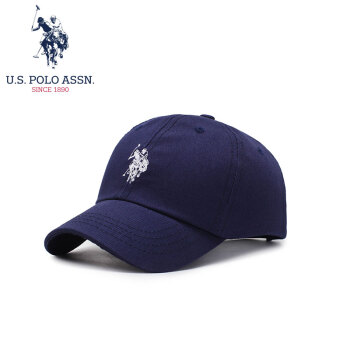 U.S.POLO ASSN.子供野球帽男子4-10歳通用上質綿子供遮光吸汗ハングキャップ箱SMZOO-6006紺