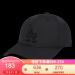 MLB韓国直郵LAドッジム純色クラシク青少年男女恋人野球帽百合日帽子ハッグ黒LA黒標全帽59 yaード