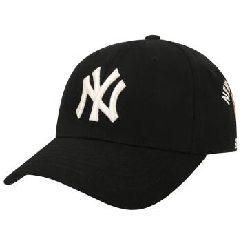 MLB韓国直送新型NY男女恋人CASH COW刺繍牛大判ハードトップは野球帽32 CPKC 11 L黒を調節できます。