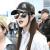 森羅慕彤の白黒は色の個性の野球帽の夏のアヒルの口の帽子の男女の鉄の環をつづります。