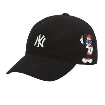 MLB野球帽男女通用恋人帽子男性ディズニーの連名キャラクターミッキーマウスヤンキースNY 32 CPKBブラックサイドミッキーNYは帽子のサイズを55 cm-59 cmまで調節できます。